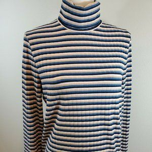 NEW Madewell Size XL Top Striped Turtleneck